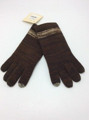 Echo Kids Brown With Stripes  Gloves One Size 100W