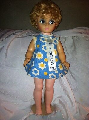"Vintage 1966 PM Sales 18""  Doll "" I Am A Go Go Doll Dress Very Cute on Rummage"