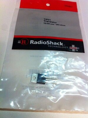 Tip31 Transistor To-220 Case Npn Silicon 276-2017 By Radioshack