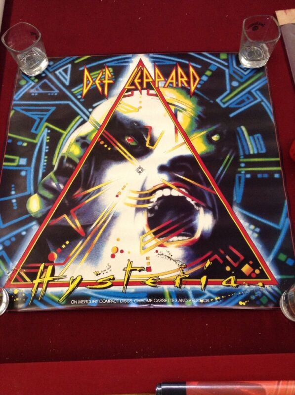 Def Leppard - Hysteria (1987) original album promo poster - single-sided -rolled