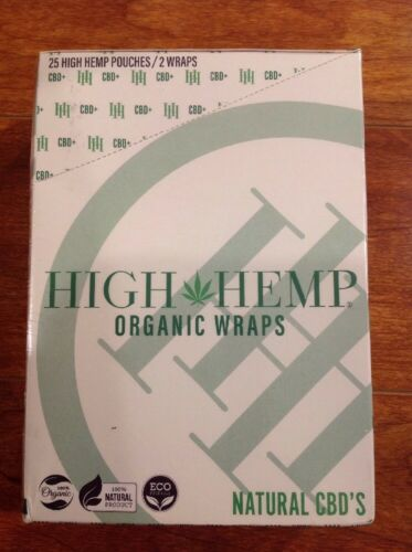 FREE GIFTS IF U BUY High Hemp Herbal 100% Organic Wraps Natural 25Packs 50 Wraps