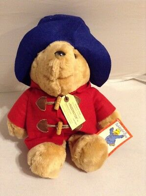 Paddington Bear Stuffed Animal Blue Hat and Red Jacket with All Tags   C