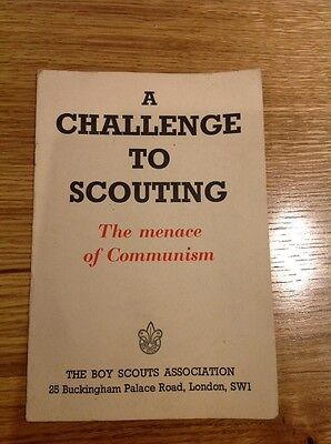 A Challenge To Scouting The Menace Of Communism Vintage Scout Booklet