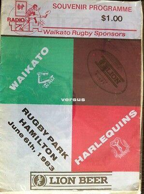 Waikato V Harlequins 1983 Rugby Programme