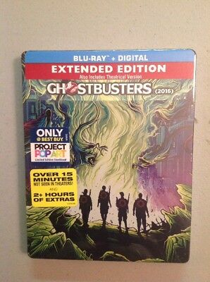 Ghostbusters (Blu-ray,2016,SteelBook Only  Best Buy)NEW AUTHENTIC US RELEASE