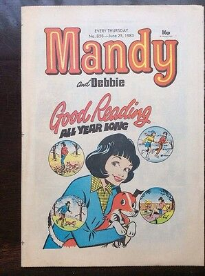 MANDY AND DEBBIE COMIC 25 JUNE 1983 UNSOLD NEWSAGENTS STOCK UNREAD VFN+