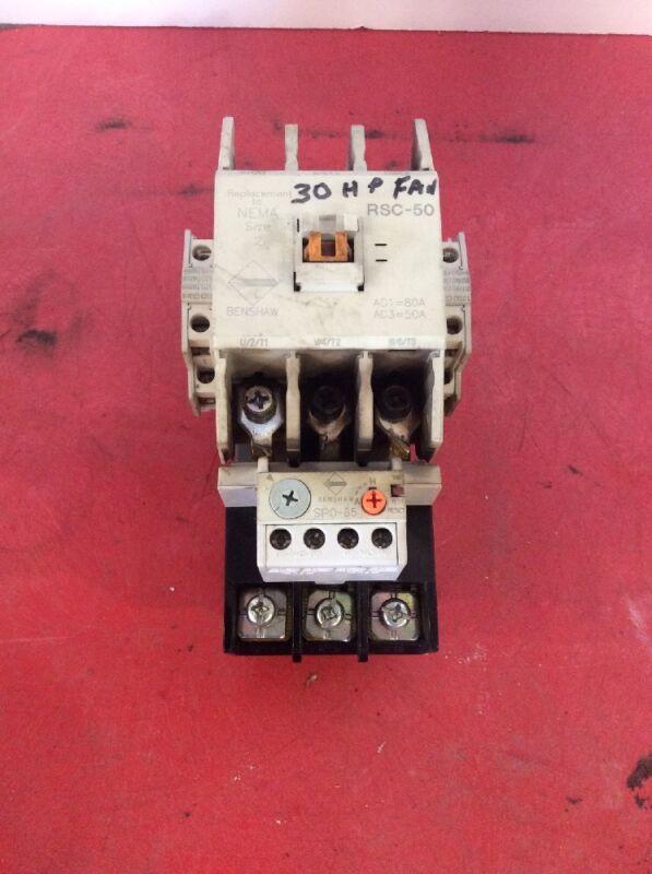 Benshaw Size 2 RSC-50 120 Volt Coil SPO-85 Overload Starter