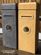 Concrete Rectangle Square Lockable Letterbox Black Sand Brighton Welshpool Canning Area Preview