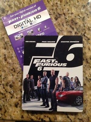 Fast and Furious 6 Steelbook (Blu-ray/DVD,2013,2-Disc) Authentic US RELEASE