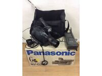 Panasonic NV-G2B - VHS-C Camcorder - with Bag, Box, Battery + Charger 2 batteries and all cables