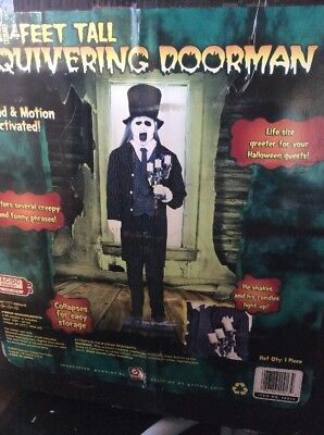 Life Size Halloween Butler (RARE Quivering Doorman Life size Halloween Animated Butler  Lights Up)