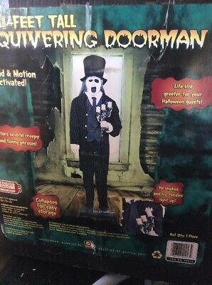 RARE Quivering Doorman Life size Halloween Animated Butler Lights Up Gemmy