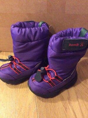 Kamik Unisex Kids Snow Boots Purple 4.5 UK BNWT