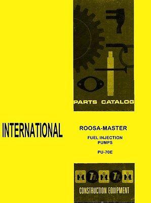International Td-6 Td-9 62 Td-80 Roosa Master Fuel Injection Pump Parts Manual