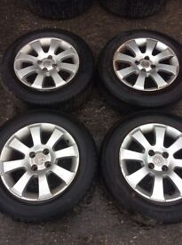 """VAUXHALL ASTRA SET OF ALLOY WHEELS 15"""" WITH TYRES 195/65/R15"""