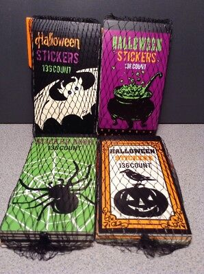 Lot of 4, Halloween Mini Sticker Tablets 6 Books, 24 Party Favors Class Size](Halloween Mini Books)