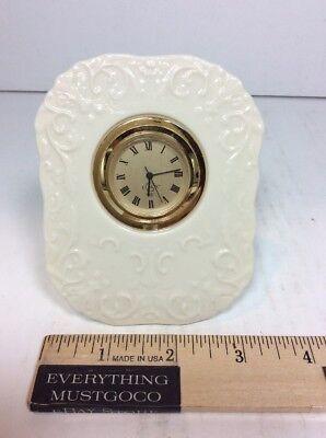 Lenox Porcelain China Georgian Clock Ivory Gold Tone Quartz Japan Clock Bezel