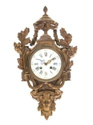 Samuel Marti Medaille De Bronze Paris Figural Cartel Wall Clock 1860.