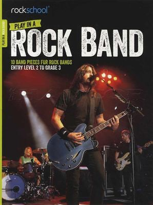(Rockschool Play in a Rock Band TAB Music Book with Audio Guitar, Bass, Drums)