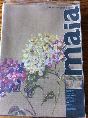 MAIA THE ART OF EMBROIDERY COUNTED CROSS STITCH KIT Hydrangea