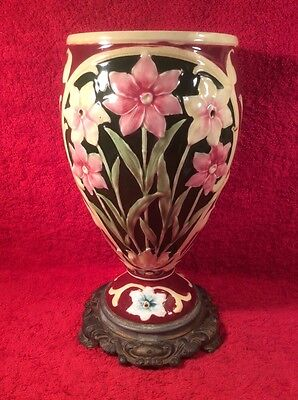 Vase Antique Majolica Art Nouveau Majolica Flowers Vase, gm899  GIFT QUALITY!!