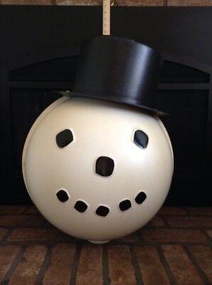 Vintage RARE Huge Snowman Head For Lamp Post