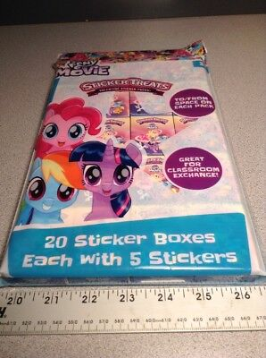 My Little Pony Valentine Sticker Packs Sticker Treats 20 boxes To/From Space