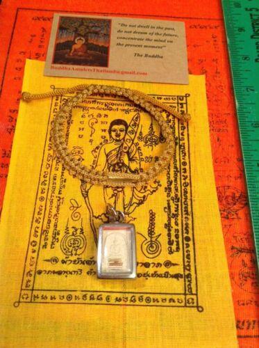 Buddha Amulet Meditation Pendant 66 Stainless Case Free Heaven Bracelet