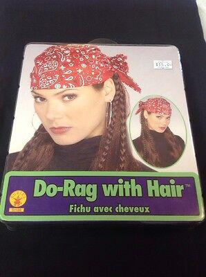 Do Rag With Hair Biker Style Wig - Biker Wig