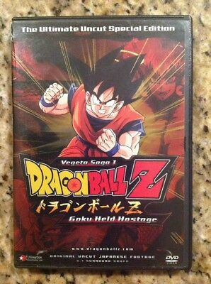 Dragon Ball Z-Saga de Vegeta: Goku es Detenido (DVD,2005,Ultimate Uncut Edition)