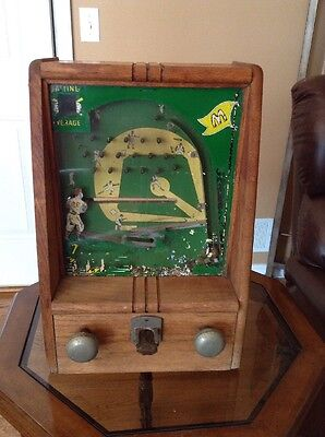 Vintage Baseball Machine Penny Arcade  Antique Table Top Game Trade