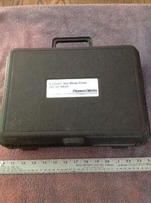 Thomas Betts E-z-coder Wire Marker Printer Wd-25p With Case And Manual