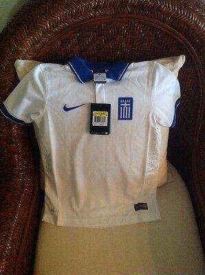 Nike Greece 2014/2015 NWT $75 Soccer Futbol Football Jersey Size S Youth Unisex image