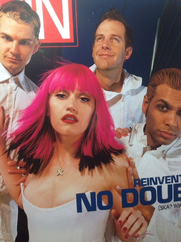 REINVENTING NO DOUBT 12x17 Promo Poster SPIN MAG PROMO BIG RARE Gwen Stefani