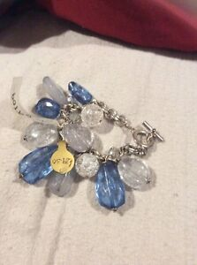 Angie Gooderham Stunning Bracelet In Blue And Clear New With Tags