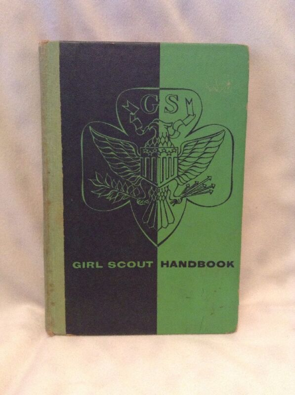 Vintage Girl Scout Hand Book Hard Cover Impression 1957