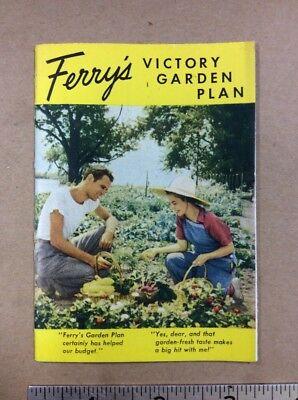 1942 Ferrys Seed Victory Garden Brochure FREE SHIPPING  INV-B16