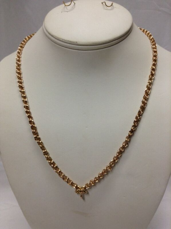 "Vtg. Victorian 14K Chain Necklace 19 3/4"" (J260)"