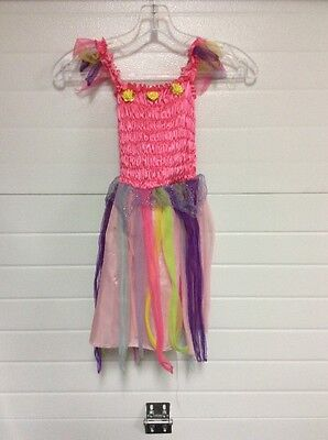 Gypsy Child Fantasy Play Costume Halloween Rainbow Dress Preowned](Children's Gypsy Halloween Costumes)