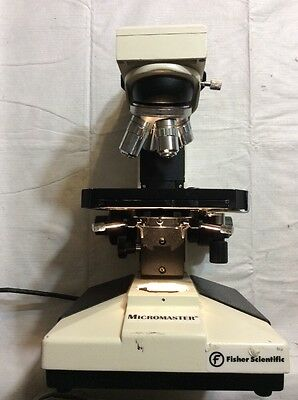 Professional Laboratory Fisher Micromaster 12-561b Microscope W4 Objectives