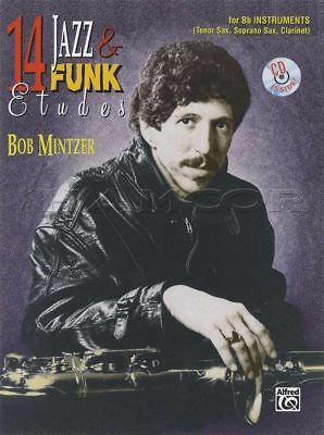 B-flat Clarinet Music Book - 14 Jazz & Funk Etudes for Bb B Flat Instruments Music Book/CD Tenor Sax Clarinet
