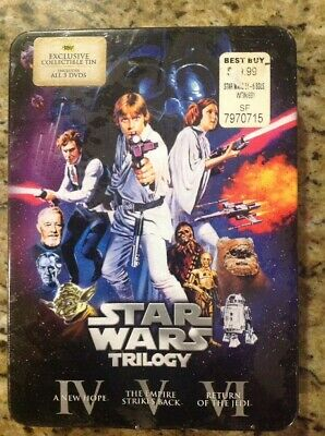 Star Wars Trilogy (DVD,6-Disc,Best Buy Exclusive Tin) NEW Authentic US (Best New Metal Releases)
