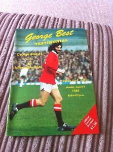 MANCHESTER UNITED FC LEGEND GEORGE BEST 1988 RARE TESTIMONIAL PROGRAMME