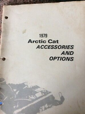1979 Arctic Cat Snowmobile Accessories And Options Manual