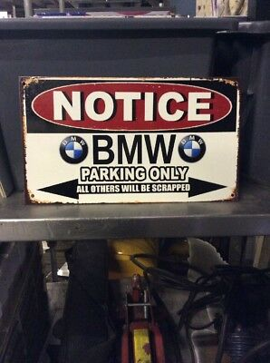 Bmw Parking Only Metal Sign