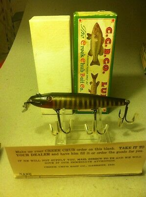 Double Line Tie Unused N Box 700 Pikie Creek Chub Ccbc Vintage Wood Fishing Lure