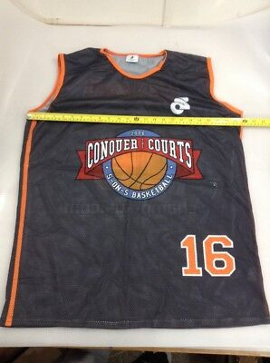 b29a3ff5a Champion System Mens Basketball Jersey Size Xl X Large Orange Collar  (5617-65)