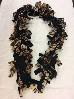 Handmade Boa Style Animal Print Tiger Fleece Scarf CHRISTMAS