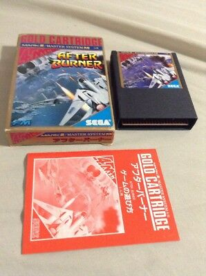 AFTER BURNER Gold Cartridge Sega Mark III 3 Master System Japan Game  USA Seller