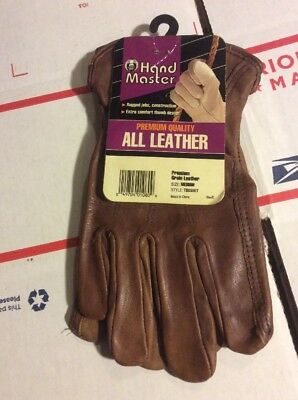 Premium Quality Leather Work Gloves By Hand Master Medium